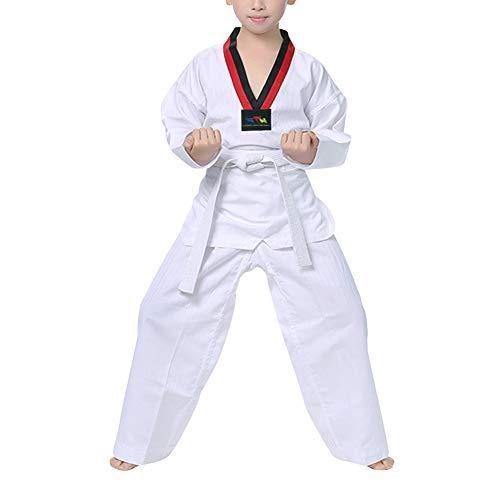 Yuluo Sport Abiti Arti Marziali Abbigliamento Unisex Adulti Bambini Completi Taekwondo - Cotone Uniforme Dobok Kung Fu Performance sul Palco Boxe Karatè Esibizione di Judo