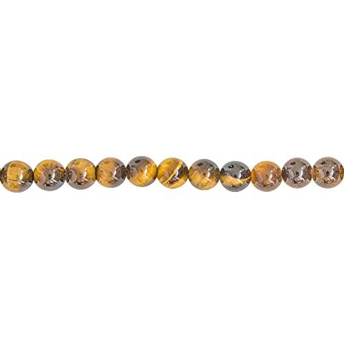 France Minéraux – Hilo de Ojo de Tigre – Piedras de Bolas de 6 mm