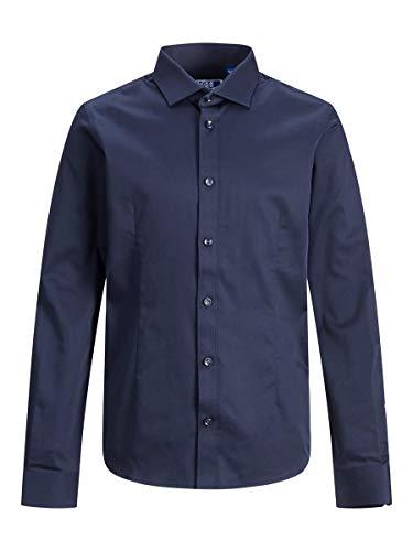 JACK & JONES Jungen Jprparma Shirt L/S Sts Jr Hemd, Navy Blazer, 176