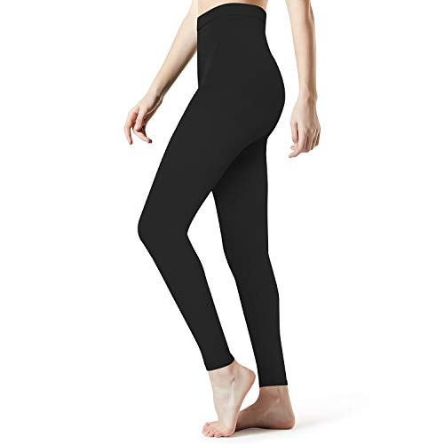 Medical Compression Pantyhose Stockings for Women Men - Plus Size Opaque Support 20-30mmHg Firm Graduated Hose Tights, Treatment Swelling, Edema Varicose Veins, Footless Black XL