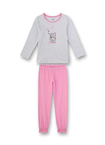 Sanetta Mädchen Pyjama lang Zweiteiliger Schlafanzug, Beige (beige 1980), (Herstellergröße:116)