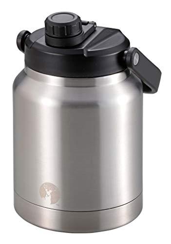 キャプテンスタッグ(CAPTAIN STAG) スポーツボトル 水筒 直飲み 注ぎ飲み ダブルステンレスボトル 真空断熱 保冷専用 HDウォータータンク 2.5L シルバー UE-3529