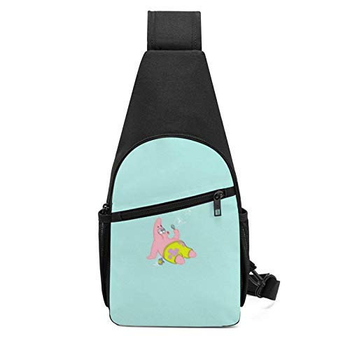 Chest bag Patrick Star Blowing Bubbles Sling Bag/Crossbody Chest Backpack/Shoulder Bags for Men Women Travel Hiking Cycling Casual Daypack