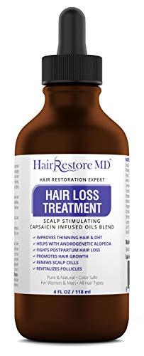 HAIR LOSS TREATMENT. DHT BLOCKER OIL, Cayenne Hair Treatment Oil, Hair Serum, Hair Growth Treatment, Hair Regrowth of Thinning Hair - Promotes Hair Growth, Stops Hair Loss, Thinning, Balding