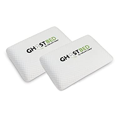 GhostPillow Queen Pillow - The World's Most Advanced Real-Time Cooling Memory Foam Pillow - Patent Pending Revolutionary Adaptive Sleep Technology - Industry Leading 5 Year Warranty - 2 Pack