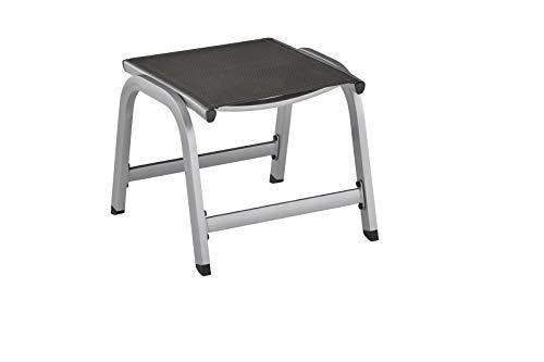 KETTLER Easy Hocker, silber/anthrazit, Alu/Textilene, 0311503-0010