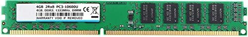 DDR3 1333, PC3-10600, Memoria de Escritorio DDR3 UDIMM DDR3 de 4 GB PC3 10600 2Rx8 1.5V CL9 módulo de actualización de Chips Intel AMD Sistema de Chips
