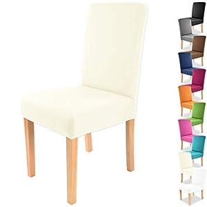 Gräfenstayn® Funda para sillas elásticas Charles - respaldos Redondos y angulares - Ajuste bi-elástico con Junta Oeko-Tex Standard 100: