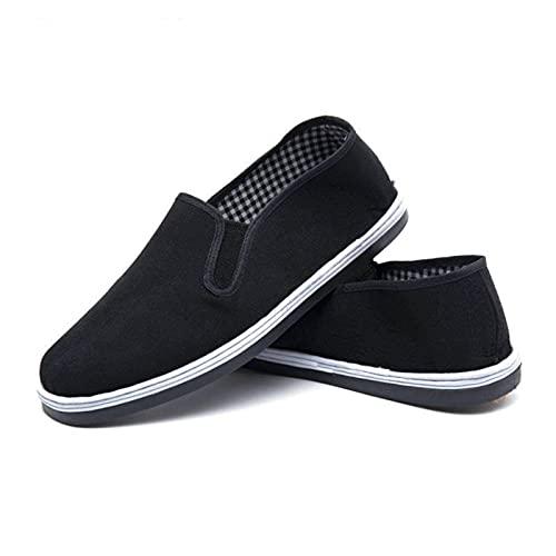 メラルーカ手作り布靴中高年男性用布靴通気性ソフトソール父靴カンフー太極拳フラットシューズ