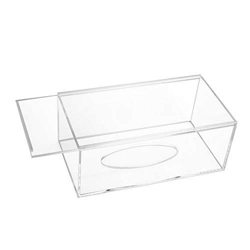 Dispensador de toallitas caja de la caja del tejido titular de acrílico claro de la cubierta transparente de la caja servilleta del dispensador de la cubierta rectangular de Inicio baño Restaurante