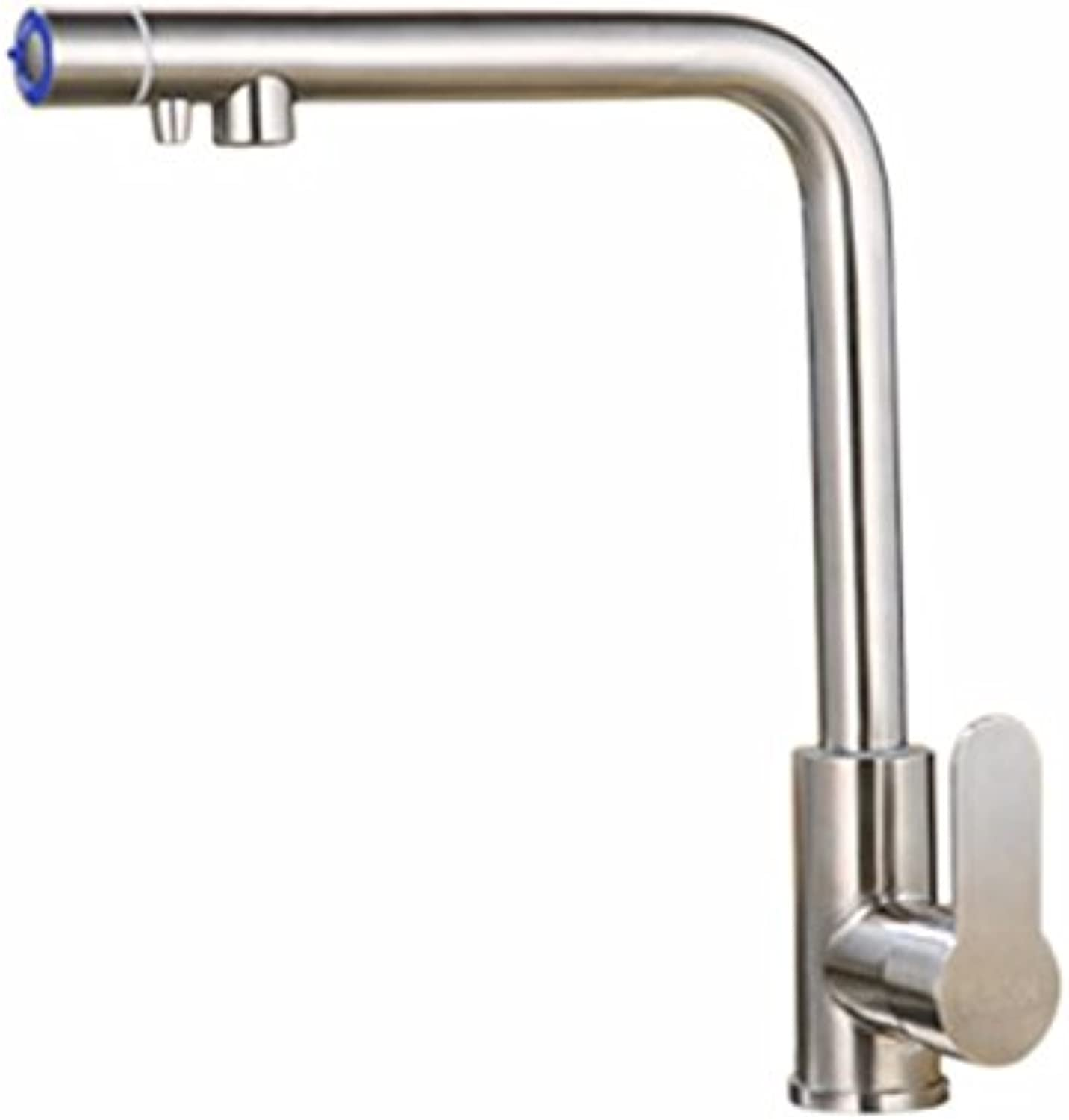 Hlluya Professional Sink Mixer Tap Kitchen Faucet 304 Stainless Steel, hot and cold, the kitchen sink faucet 3
