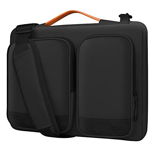 Alfheim 15,6-16 Pulgadas Funda para portátil Maletín, Impermeable Ligero Bolsa de Hombro, Protectora 360° Compatible con 16 Pulgadas Macbook Pro A1398/Acer/Dell/Asus/Thinkpad/Samsung
