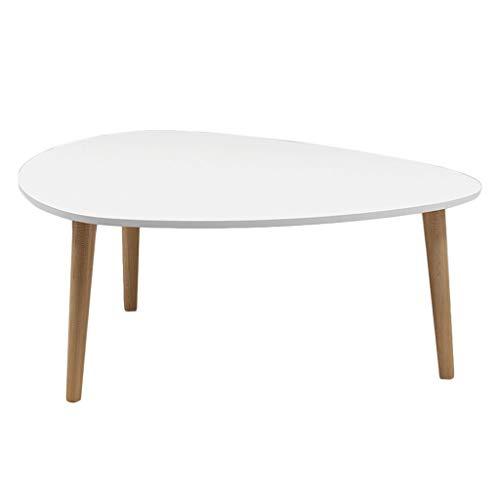 TXC- Massivholzmöbel des kleinen Couchtisches verzierten Wohnzimmerbalkonhaus und Bürotisch Klein (Color : White, Size : 900 * 400mm)
