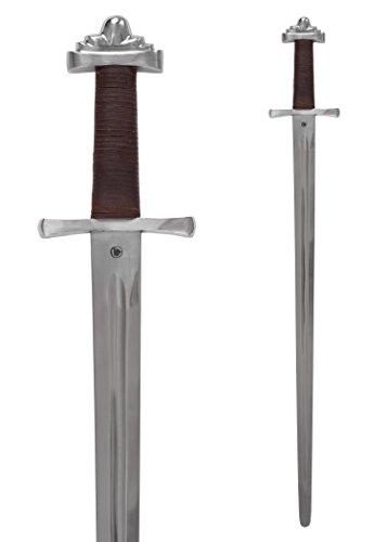Ulfberth Wikingerschwert, geschmiedet, mit verzierter Scheide, 10. Jh, Schaukampfschwert Echt Wikinger Schwert aus Metall