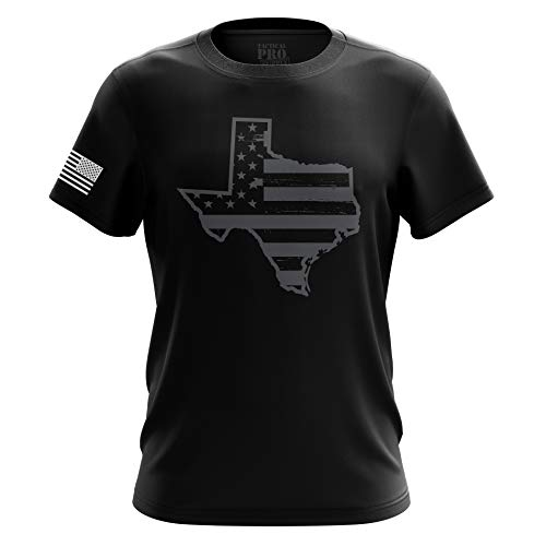 American Flag Military Army Mens T-Shirt Printed & Packaged in The USA (Texas, Medium)