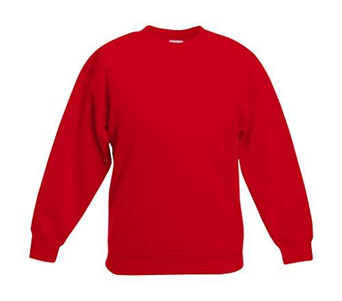 Fruite of the Loom Kinder Sweatshirt, vers. Farben 152,Rot