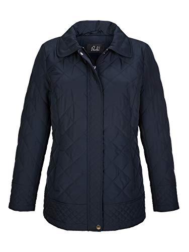 Paola Damen Jacke mit Umlegekragen in Dunkelblau mit Steppung