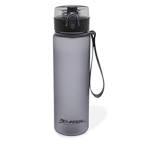 MELIANDA MA-7300 Trinkflasche Wasserflasche 550ml Nylon Handschlaufe grau