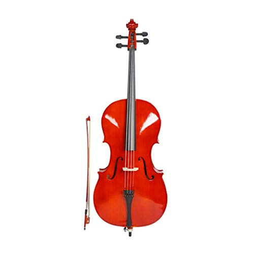 Gxiang New 1/2 Acoustic Cello Very for Students Beginners,Natural Colour Student Cello with Bag Bow Strings Bridge Rosin(1123813cm)
