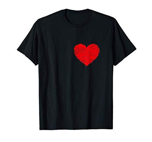 Camiseta de corazn de hombre Disfraz de Halloween Camisetas Camiseta