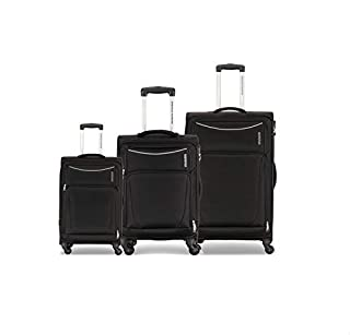 American Tourister Portland Spinner Suitcases , Set of 3 , Black