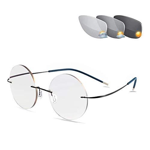 Gafas De Lectura Sin Marco De Titanio Con Memoria, Gafas De