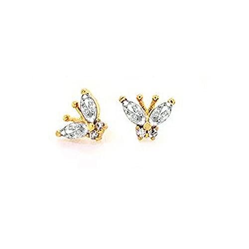 Pendientes Mujer Pendiente De Plata Esterlina S925 Pendiente De Circonita Arcoíris Pendiente De Mariposa para Mujer Pendiente De Mujer Pendientes Brincos Jewelry Gold 2