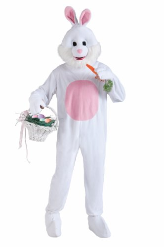 Forum Novelties White & Pink Bunny Mascot Adult Standard Costume