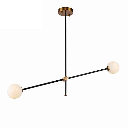 LLLKKK . Sputnik Magic Bean - Lámpara de araña de hierro forjado para cocina, lámpara de techo nórdica, lámpara de techo para comedor, dormitorio, 2 bombillas E27