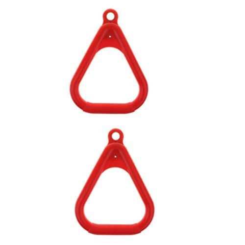 MagiDeal 2 Stü Swing Bar Ringe Backyard Outdoor Gymnastikring, Affenring, Kletterring Und Hindernisring Rot