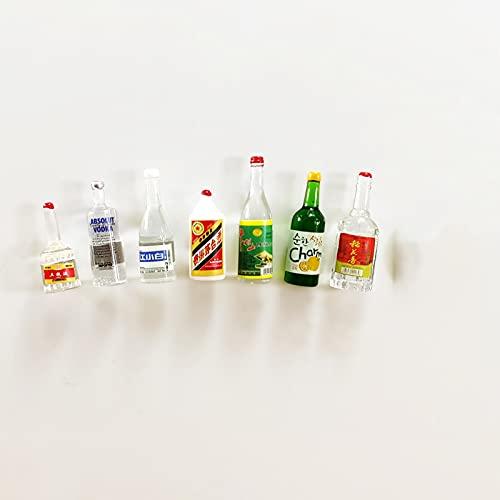 SXCV Imán de Refrigerador, Botella de Vino de Imitación de Imanes de Fuertes de Resina, Mini Imanes Pizarras Blancas y Otros Elementos Magnéticos,C