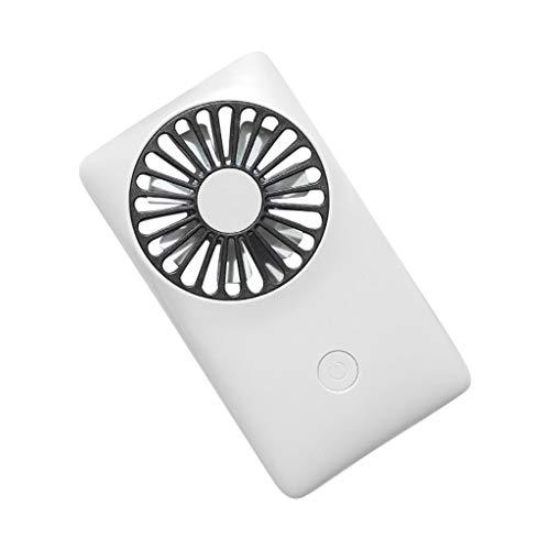 USB Tischventilator Ventilator, Handventilator Ventilator Ventilator USB Mini Ventilator 3 Geschwindigkeiten, USB Lüfter Geräuscharm, USB Fan Einfach zu Tragen, für Büro, Zuhause und im Freien (Weiß)