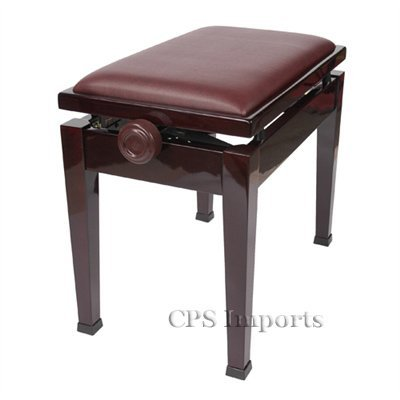 Great Deal! Adjustable Piano Bench Stool with Quick Adjustment in Mahogany