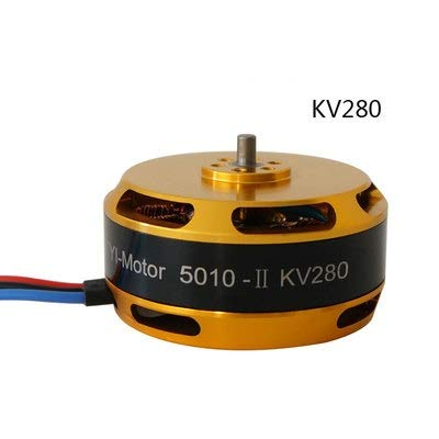 HONG YI-HAT 1PCS 5010 High Power Drone Controller Motor KV340 KV280 Speed ​​Brushless for RC Plant Landbouw UAV drone Accessoires (Color : KV280)