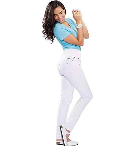Whitewear Bauch-Weg Jegging Isabella Hose Body Shapewear Berufshose Pflege weiß Gr. S