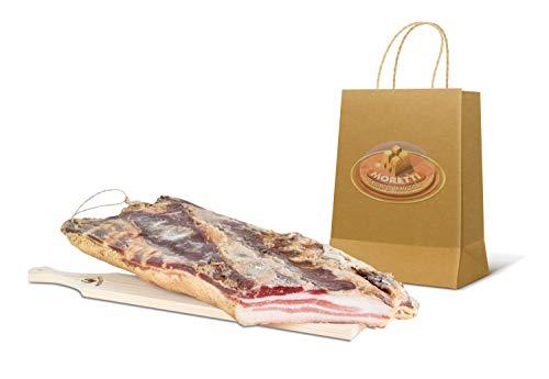 Moretti   Pancetta Bacon Pancettone   Tesa Dolce Artigianale Stagionata Essiccata   Di Puro Suino   Leggermente Affumicata   Confezione Sottovuoto Da 800 gr+   In Regalo Tagliere In Legno Di Ontano