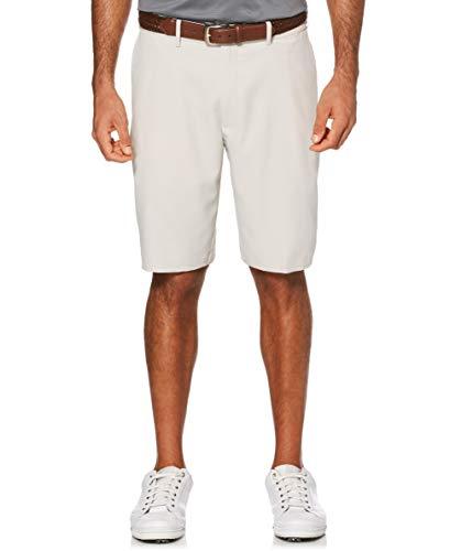 PGA TOUR Men's Expandable Flat Front Golf Short, Silver Cloud, 34