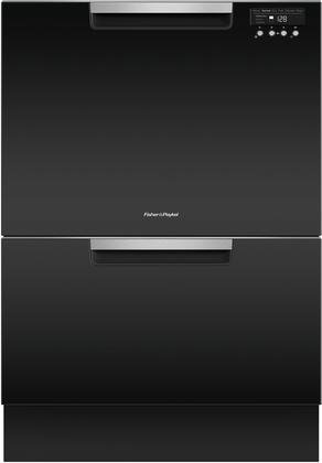 Fisher Paykel DD24DCTB9 24' Tall Double Drawer DishDrawer Dishwasher with 14 Place Settings 2 Cutlery Baskets Child Lock SmartDrive TM Technology and Recessed Handle in