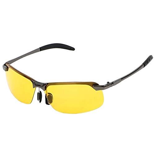 PPCLU gafas de sol Conductor de gafas de sol polarizadas gafas de visión nocturna de coches Accesorios for automóviles UV 400 Conducción Lentes UV Protección Gafas de sol (Color : Gun Black)
