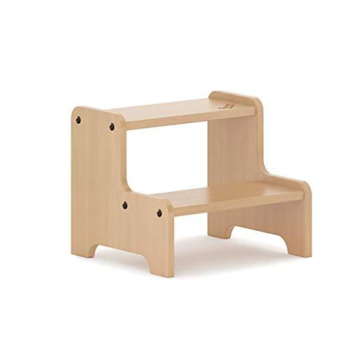QGQ Marchepied, Deux En Bois Planchers En Bois Massif Repose-Pieds, Chaise D'Échelle Multi-Fonctionnelle, Enfants Lit Escaliers Antidérapants Repose-Pieds Construction Escalier de Lit Pour La Maison