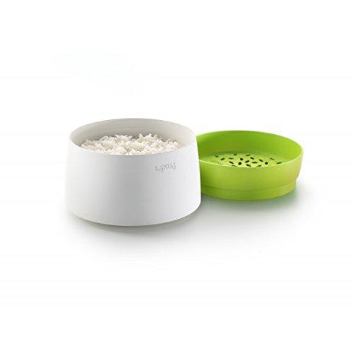Lékué 0200700V06M017 Reis- und Getreidekocher 100 % Platin-Silikon und PBT-Kunststoff