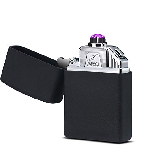 YUHUII aansteker, drie vellen, plasma, sigarettenaansteker, USB, elektronisch opladen, hoge capaciteit