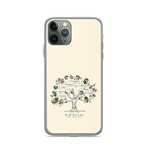 Fundas para teléfono Pure Clear TPU Anti-Fall compatibles con iPhone 12/12 Pro MAX 12 Mini 11 Pro MAX SE X XS MAX XR 8 7 6 6s Plus Funda-The Yoga Tree