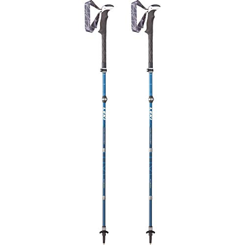 LEKI Unisex – Adult Micro Vario Carbon AS Trekking Poles White/Blue/Lime Green, One Size