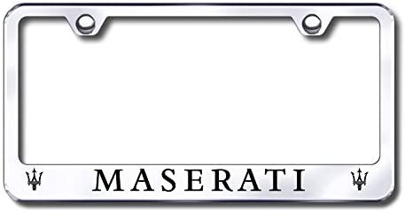 New Stainless Steel Chrome Maserati License Great interest W Frame Plate Bolt C online shop