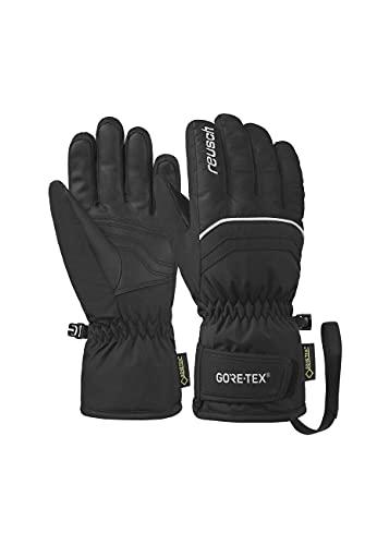 Reusch Unisex Fingerhandschuhe Tommy GORE-TEX Velcro Junior warm, wasserdicht und atmungsaktiv 701 black/white, 7