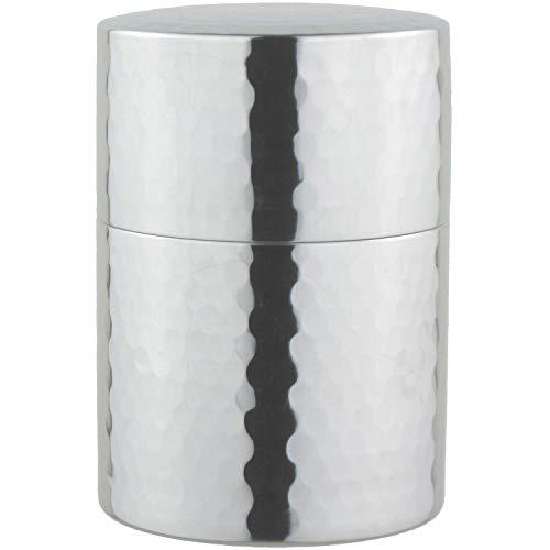 ナガオ『ステンレス槌目茶筒ミラー』