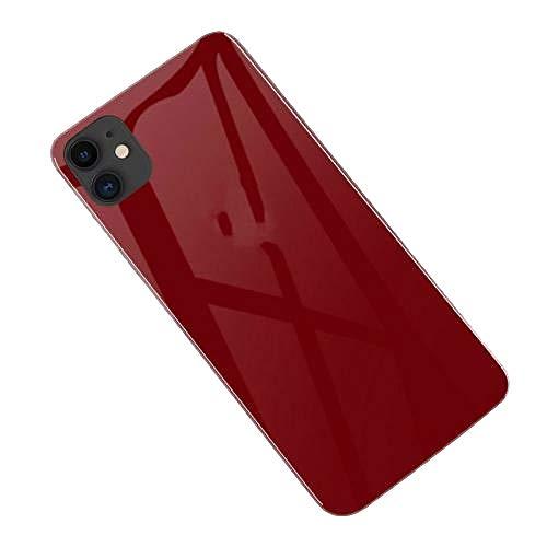 kanglang Llame a la Cubierta Protectora de la Caja del teléfono móvil de protección Completa de Vidrio Templado Luminoso Intermitente-Control de Voz roja_iPhone X/XS