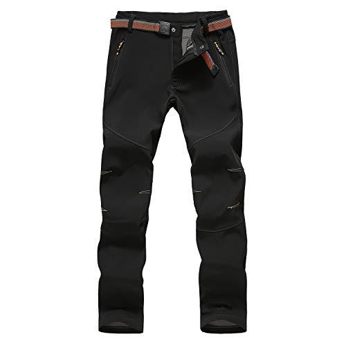 LHHMZ - Pantaloni da trekking da uomo, comodi e caldi in pile, antivento, per attività all'aperto, casual, arrampicata, sci, ciclismo