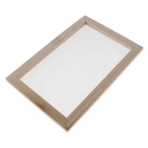 oshhni 7 Größen Papierherstellung Papier Schöpfrahmen, Papierherstellung Rahmen, Papierschöpfsieb, Papierschöpfrahmen Bildschirm Rahmen Zubehör - 30X40C, 20x30cm